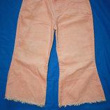 Микровельвет ф.Marks&Spenser брюки-клеш,красивого нежного цвета на девочку-1,5/2года