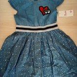 Платье сарафан для девочек 4-14, коттон, Италия