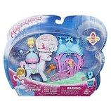 Кукла Принцессы Диснея Золушка Маленькая кукла принцесса, крутящаяся и транспортное средство
