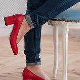 Туфли из натуральной кожи на каблуке Новинка Производитель Украина