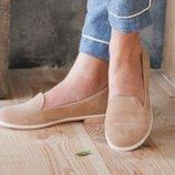Балетки - туфли из натуральной кожи замши Новинка Производитель Украина