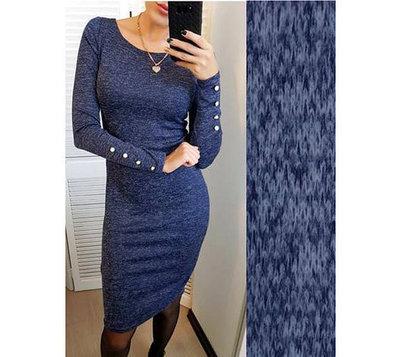 Платье ангоровое Перрис с пуговицами на рукавах размеры с 42 по 54
