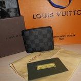 Кошелек портмоне бумажник мужской Louis Vuitton, кожа, Франция 011