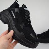 Кроссовки мужские Balenciaga Triple S black, Топ качество