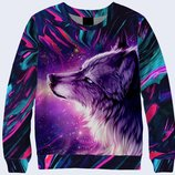 Потрясающий 3d свитшот Фантастический волк