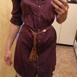 фиолетовое платье/рубашка м