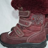 Термо сапоги ботинки Elefanten-tex 25р. кожа замш