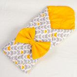 Конверт, одеяло, плед на выписку новорожденного летний
