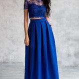 Шикарная классическая юбка Колокол макси разные цвета все размеры тюльпан красный чёрный синий