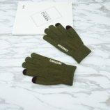 Перчатки мужские для сенсорных экранов Gloves Touch Idiman green