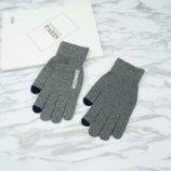 Перчатки мужские для сенсорных экранов Gloves Touch Idiman gray