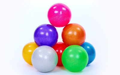 Мяч для художественной гимнастики блестящий галактика 6272 20см, 8 цветов