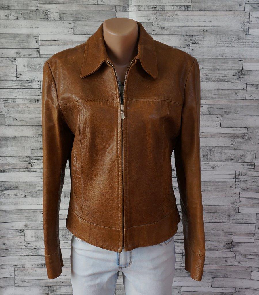 Куртка натуральная кожа коричневая Naf-Naf Размер 46  249 грн -  демисезонная верхняя одежда naf naf в Киеве, объявление №16797932 Клубок  (ранее Клумба) 5802fa03c52