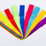 Лента для художественной гимнастики без палочки 5517 длина 6м, 9 цветов