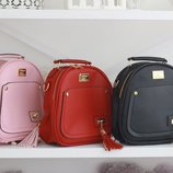 Рюкзак сумка оригинальный рюкзачек трендовый черный с кисточками