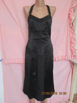 Черное платье миди с открытыми плечами 44 рр  60 грн - вечерние ... 02a924449e7