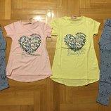 Комплект футболка туничкой с лосинками122-146рр