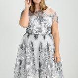 вечернее выпускное платье Chi Chi London большой размер