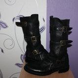 брендовые шикарные итальянские кожаные сапоги ботинки на трех ремешках fiorentini baker
