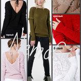 42-48 Ажурный джемпер. свитерок. открытая спина. вязаный. цвета, свитер. легкий, кофточка