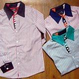 Стильні рубашки для хлопчиків. Венгрія 134-164