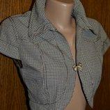 Котоновый пиджак, болеро, пиджак, накидка, женское болеро XS, пиджак женский 42
