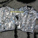 Распродажа Серебро тренд сезона. Куртка - бомбер Aape для девочек р. 128-146