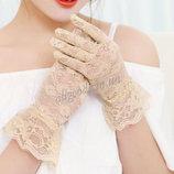 Перчатки кружевные запястье p410