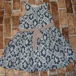 платье нарядное хб Некст 5лет большой выбор одежды 1-16лет