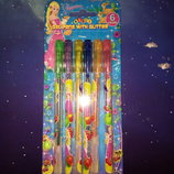 набор ручек гелевых с блеском 6 цветов, 12 цветов