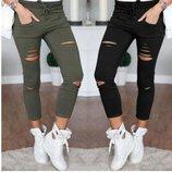 джинсы женские рваные Хит года бойфренды штаны брюки женские лосины
