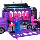 Monster High Школьный автобус салон FCV63 Deluxe Bus and Mobile Salon Toy Playset
