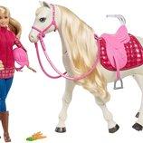 Barbie Барби и интерактивная танцующая лошадь Dream Horse Doll Blonde