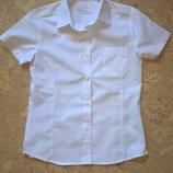 Рубашка с коротким руквом белая в школу для девочек Тм Smart start.