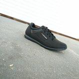 Кроссовки черные мужские кожаные ECCO 40 -45 р-р