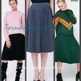 42-48 Юбка плиссированная трикотажная, Женская вязаная юбка, Теплая женская юбка