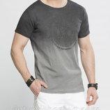 Мужская футболка серая LC Waikiki / Лс Вайкики с надписью на груди Back to the seas