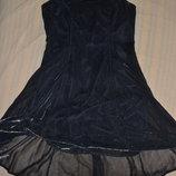 Поделиться Роскошное сияющее платье-сарафан серебристый металлик в бельевом стиле Glamour