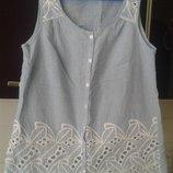 Нежная блуза ажур без рукавов F&F UK 8 состояние новой
