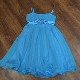 Нарядное платье, на девочку 7 - 8 лет, смотрите замеры