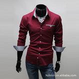 Рубашка с длинным рукавом красная New 2019 код 46