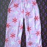 Фланелевые пижамные штанишки для девочки 4 л.