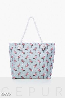 Холщовая сумка Фламинго   270 грн - пляжные сумки в Одессе ... fb9e879c290