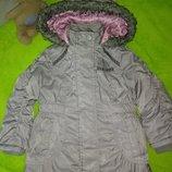 Стильная куртка парка на девочку 2-4 года
