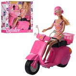 Кукла Defa Lucy в шоломе на мотоцикле, 8246