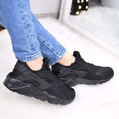 377486e4 Женские чёрные кроссовки Nike Huarache с белой подошвой: 575 грн ...
