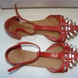 Bershka сандалии босоножки женские кожа р.37