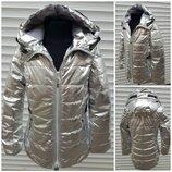 Куртка серебро, весенняя, демисезонная на девочку . р-р 128-164. Венгрия. S&D.