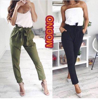 e5a9c1825925 Новые брюки штаны очень высокая талия посадка цвет хаки зеленый пояс рюши  складки ...