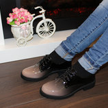 Туфли женские лаковые омбре